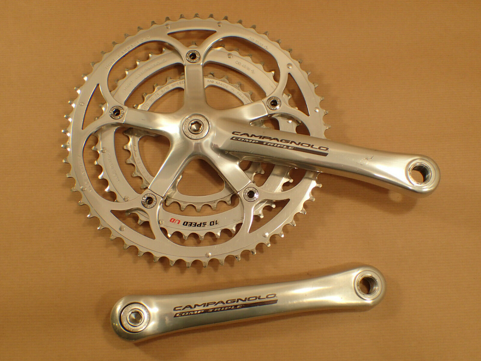 Campagnolo Comp triple crankset 10 speed 175mm 30 42 53 VGC