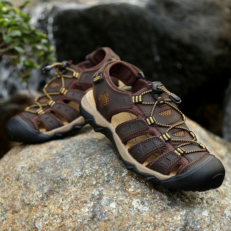 Mens Sport Sandals Close Toe Anti Skid Hiking shoes Casual Comfy Flats Sneakers