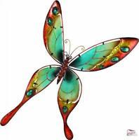 Butterfly Wall Decor Art Handcrafted Glass Hanging Garden Indoor Outdoor Decor