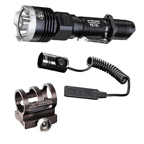 Nitecore P16 Tac 1000 Lumens Lumens Lumens Flashlight wGM02 Gun Mount RSW1 Presure Switch 46b2bd