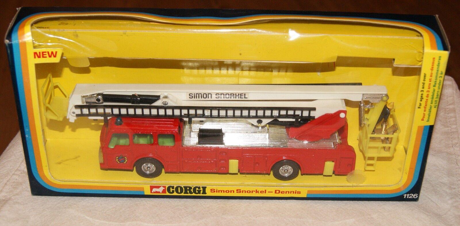 Corgi Modèle 1126 Simon snorkel Dennis 70 s vintage modele 70 s