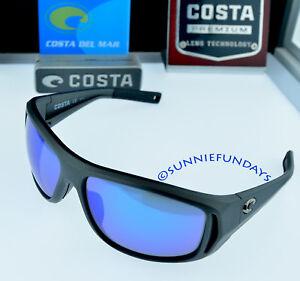 afbd96aec359 COSTA Del Mar POLARIZED MONTAUK  209 MATTE STEEL GREY w BLUE GLASS ...