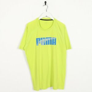 Vintage-PUMA-Big-Logo-T-Shirt-Tee-Green-Large-L