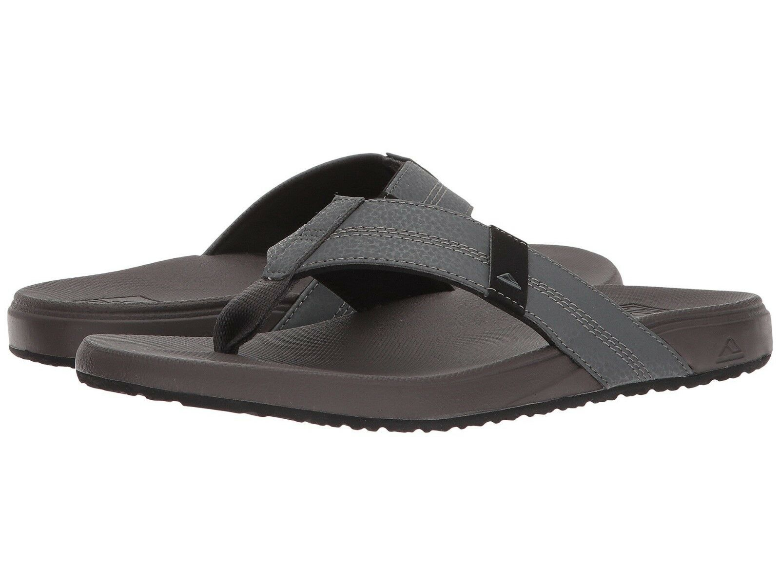 NEW MEN REEF SANDAL PHANTOM FLIP FLOP CUSHION BOUNCE PHANTOM SANDAL BROWN GREY ORIG RF0A3FDI 44eb6b