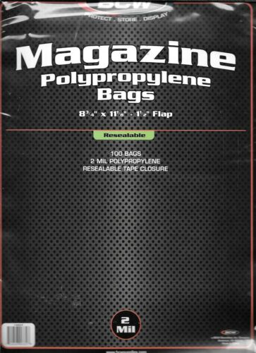 BCW RESEALABLE MAGAZINE SIZE SIZE BAGS PACKS COVERS DISCOUNTS ON 4 200