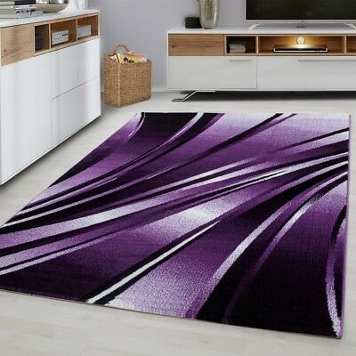 Modern Rug Designer Black and Purple