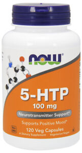 NOW Supplements 5-HTP 100 mg - 120 Veg Capsules