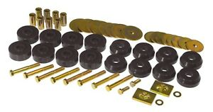 59-64-Chevy-Impala-Bel-Air-Sedan-Body-Mounts-Kit-Black-Poly-Prothane-7-144-BL