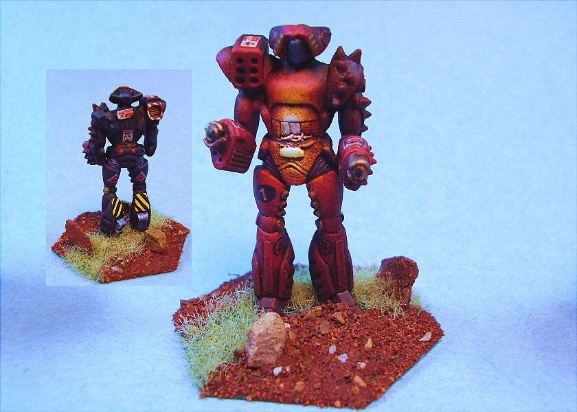 Battletech Pintado Flashfire battlemech no