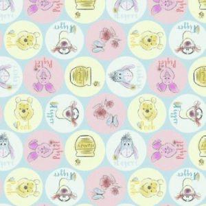 Vestige-Disney-Winnie-The-Pooh-Noms-De-100-Tissu-Coton-110cm-x-41cm