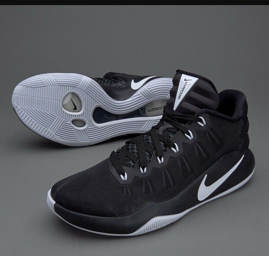 Nike Zoom Hyperdunk 2016 Low Basketball Trainers Black Mens Size 10