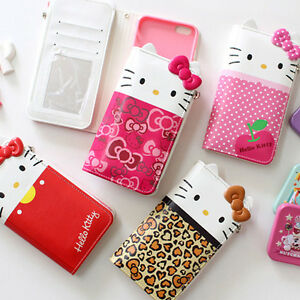 new arrival 472a0 7a24a Details about Genuine Hello Kitty Dress Wallet Case iPhone XS/XS Max/XR  Case 5 Types Case