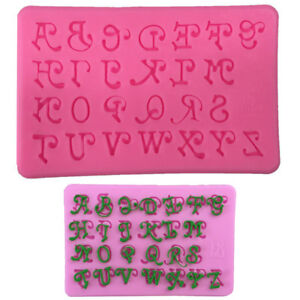 Alphabet-Silicone-Cake-Mold-Art-UppercaseLetters-Fondant-Icing-Baking-DIY-Mould