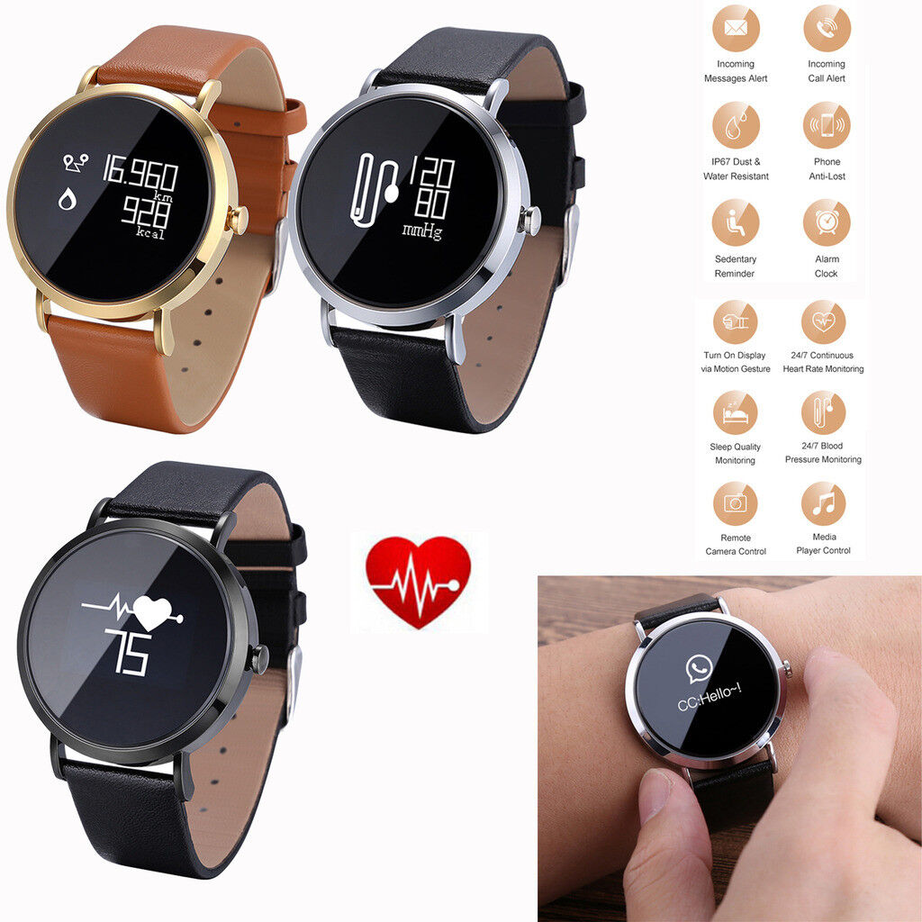 Heart Rate & Blood Pressure Watch Bluetooth Smart Watch For Samsung S20 S10 S9 +