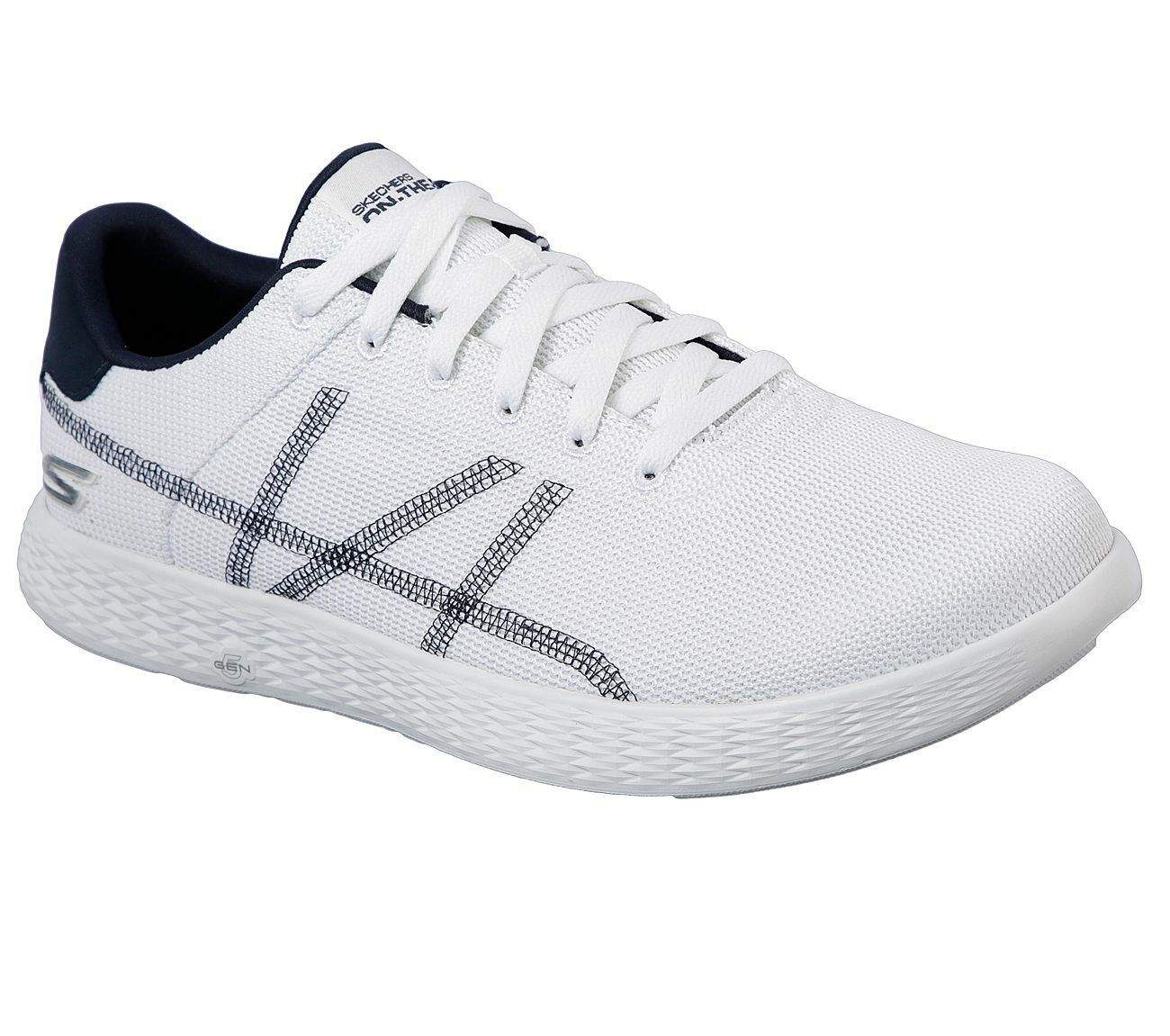 Skechers Men's Performance On The Go Glide Aces White/Navy 53777/WNV The most popular shoes for men and women