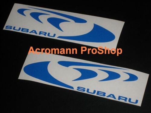 "2x 6/""152mm 555 WRC Decal Sticker for impreza wrx GDB GC8 forester 22B sti S4 GVB"