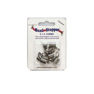 Beadsmith® Perlenstopper Combo Packung Edelstahl 4 Regulär & 4 Mini Einfach Zu Reparieren