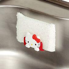 Hello Kitty Sponge Holder Kitchen Sink Suction Orgnizer Draining Kitchen Rack