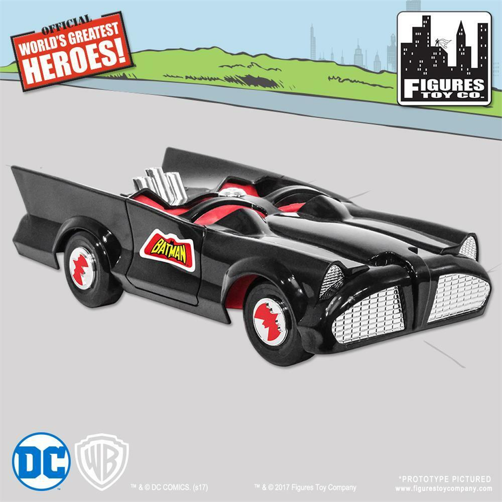 NEW RETRO BATMAN and ROBIN DC Comics Batmobile Playset  sealed mib