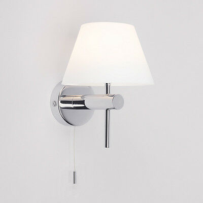 ASTRO ROMA 0434 bathroom pull switch glass wall light 1 x 28W G9 IP44 chrome