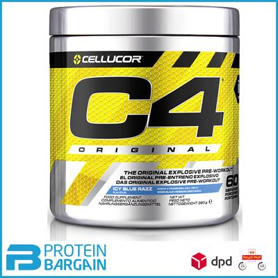 Cellucor C4 Pre Workout Original 5th Gen 60 servings Creatine Caffeine Pump