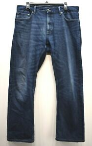 Banana Republic Men Blue Wash Vintage Straight Leg Cotton Denim Jeans 34 x 30