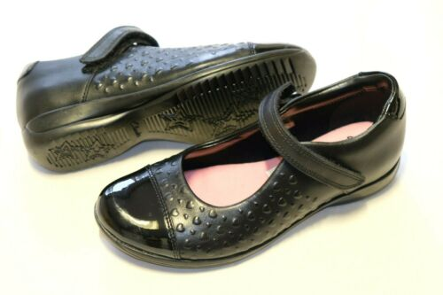 Clarks Black leather girls school shoes size 12.5//31 G Wider fit RRP £45