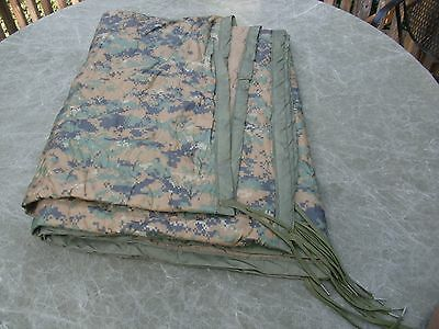 "USMC MARPAT Woodland Poncho Liner 82"" x 62"" Very Good Condition"