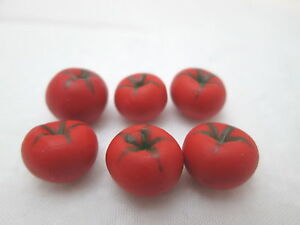 Doll Mini Kitchen Food Tomato Vegetables Set of 4 Dollhouse Miniature Tomatoes