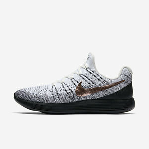 NIKE LUNAR EPIC LOW FLYKNIT 2 EXPLORER White Black Bronze 904742 100 Sz 9.5