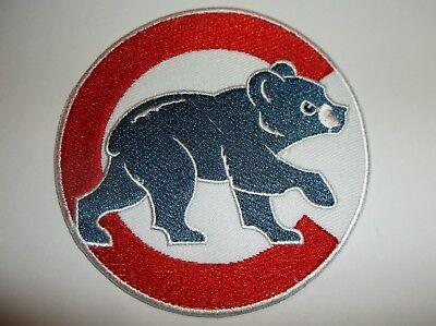 Aus Dem Ausland Importiert Chicago Cubs Bestickter Patch ~ 8.9cm Rundes ~ Zum ~ Mlb ~ Schiffe Gratis Fanartikel