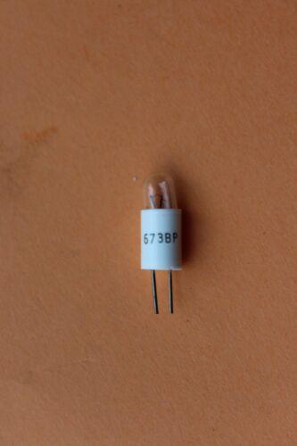 20 x VCH 673 BP Bi pin Bulbs 6v 60mA 0.36w T1.5 Diameter 5mm Between Pins 4mm