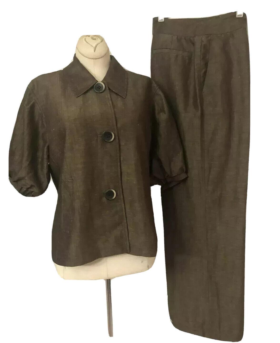 Lafayette 148 New Linen/Wool Blend Pant Suit Size… - image 2