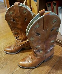 Womens Ariat Dingo Mid Calf Boots Size 7 Made in the USA 3