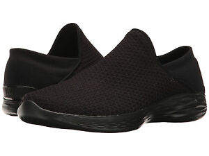 NEW WOMEN SKECHERS YOU TALK MOVEMENT BLACK BLACK MESH FABRIC UPPER 14952 ORIGINA