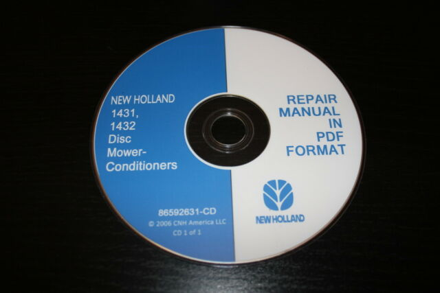 Holland 1431 1432 Disc Mower Conditioner Repair Manual