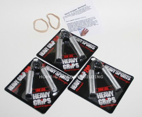 Finger Exercise Bands NEW Heavy Grips Hand Grippers PICK ANY THREE MODELS