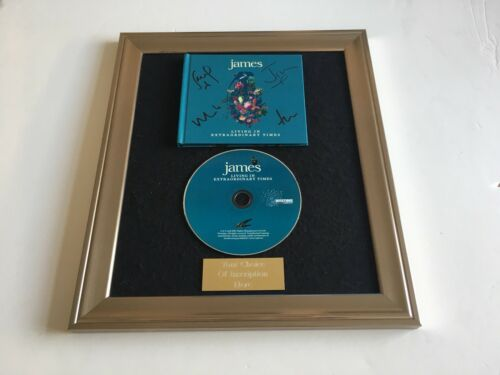 LIVING IN EXTRAORDINARY TIMES FRAMED CD PRESENTATION SIGNED//AUTOGRAPHED JAMES