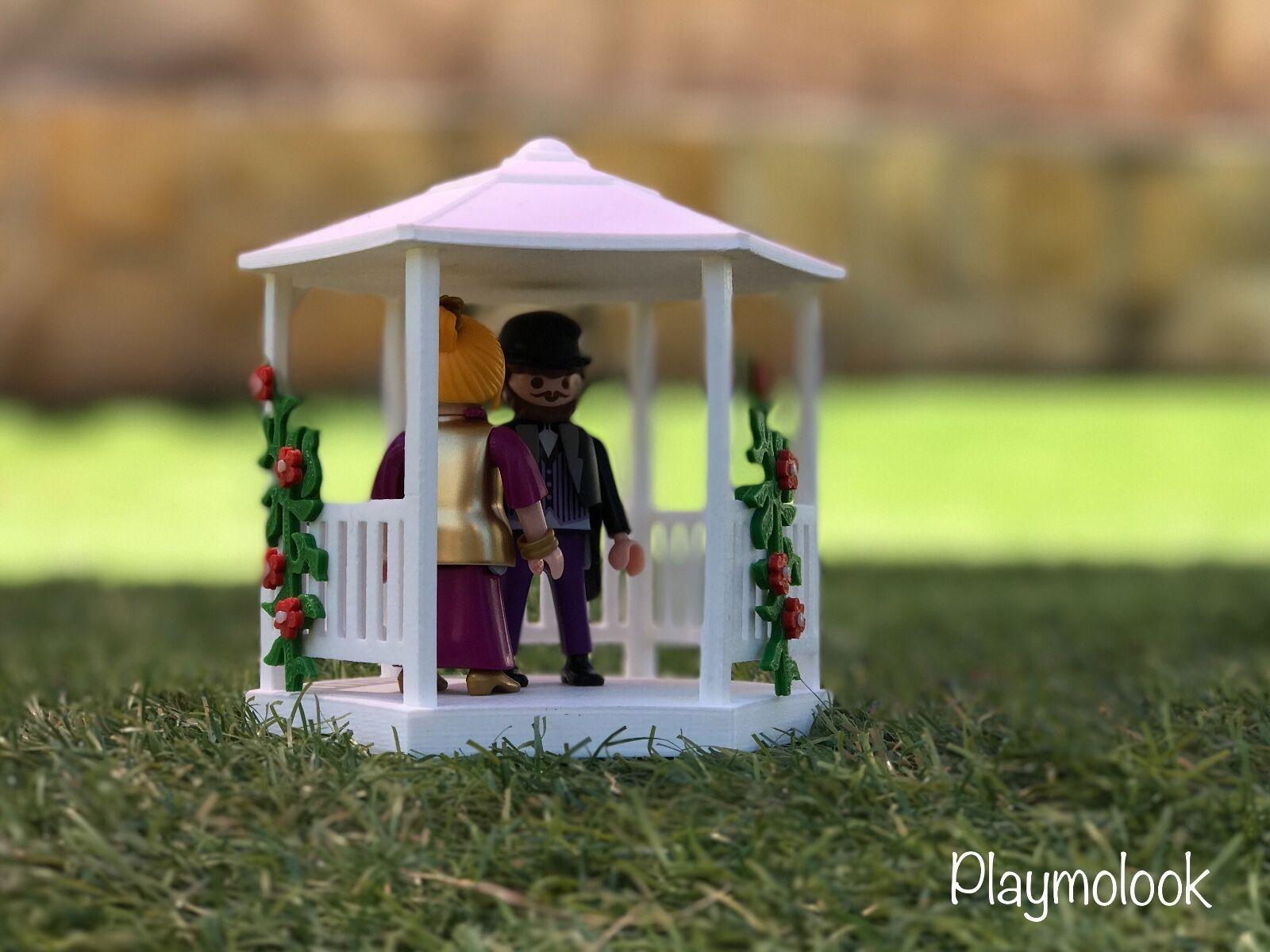 PERGOLA GAZÉBO MARIAGE VICTORIEN TONNELLE MINIATURE FIGURINES PLAYMOBIL AUCUNE