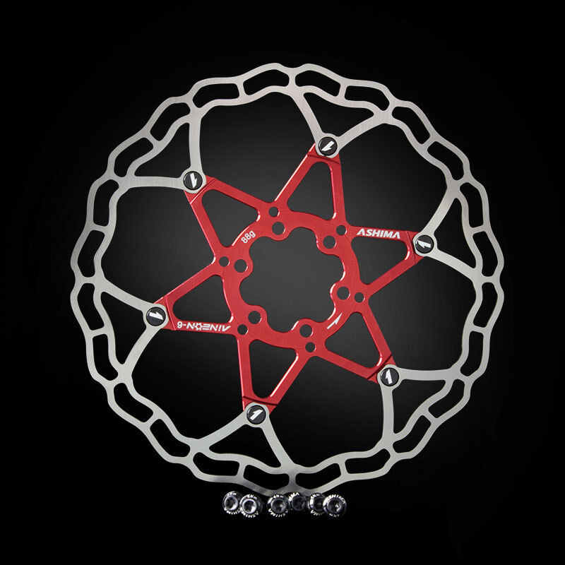 Disco freno Aineon 180 mm 88g Floating Disc TUNE IT Rosso rosso ASHIMA