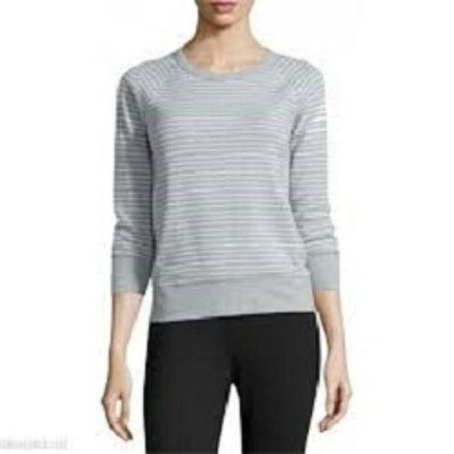 James Perse Women's Clothing Grey White Soft Sweatshirt 1