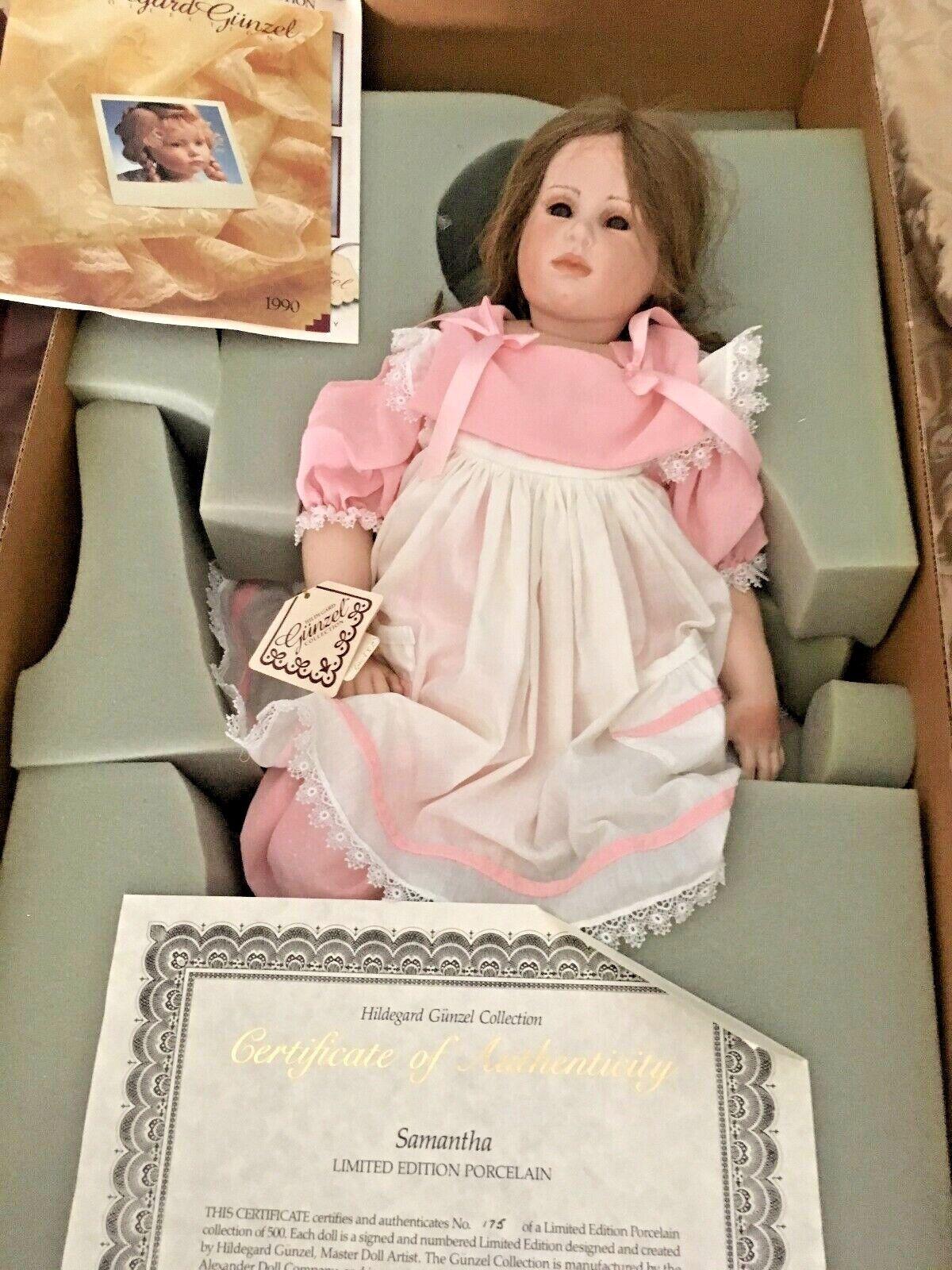 Hildegard Gunzel 23  Porcelana Samantha MIB Con cert. de de de autenticidad  grandes precios de descuento