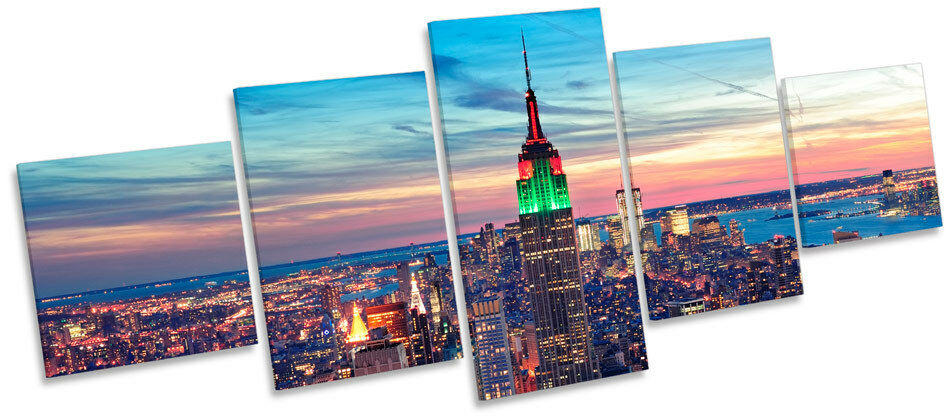 New York City MULTI CANVAS WALL ART Picture Box Frame