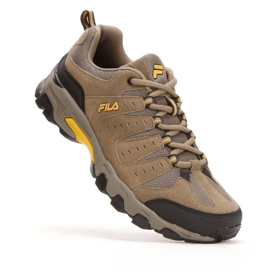 108cf8fea0 NIB Men's Travail Trail Running shoes 4E Wide Brown gold FILA ...