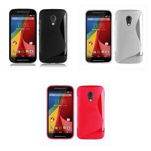para-Motorola-Moto-G-2-generacion-Sintetico-Funda-s-line-silicona-gel