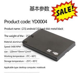 Nuevo Disco Duro Externo Portátil Digital 2TB 1TB 2.5 en USB3.0 Disco Duro Plata Negro
