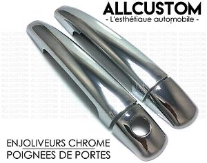 COUVRES-CACHES-ENJOLIVEURS-CHROME-POIGNEES-PORTES-pour-PEUGEOT-207-CC-207CC-07-lt