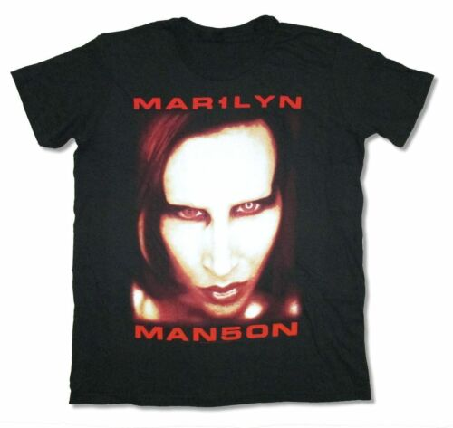 Marilyn Manson Big Face Image Black T Shirt New Official