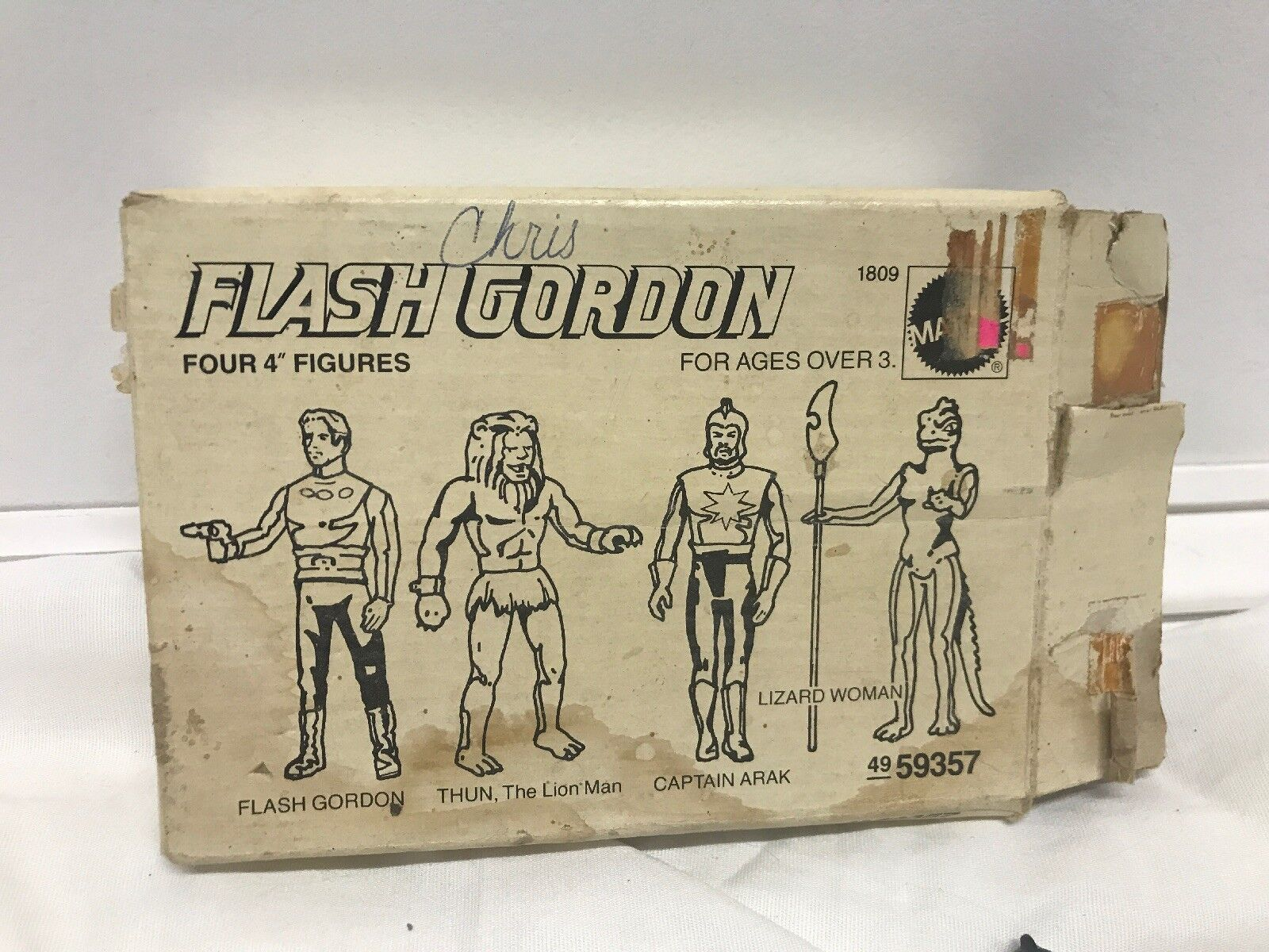 Flash Gordon Sears Mail Away Box 1979 Mattel Missing Missing Missing Thun Not Complete Figures 6f53e5