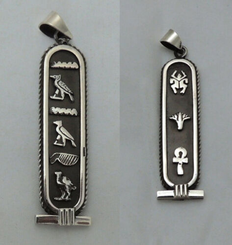 PUT YOUR hieroglyphic NAME On Elegant Sterling Silver Egyptian CARTOUCH Pendant